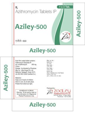 Aziley-500 - Zodley Pharmaceuticals Pvt. Ltd.