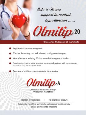 Olmitip-20 A - (Zodley Pharmaceuticals Pvt. Ltd.)
