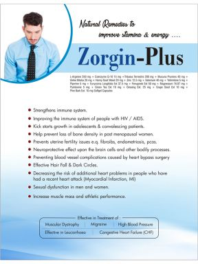 Zorgin Plus - (Zodley Pharmaceuticals Pvt. Ltd.)